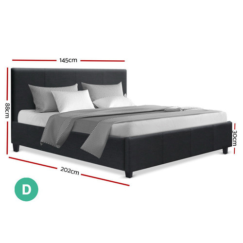 Dwell Home Grey Sheona Upholstered Double Bed