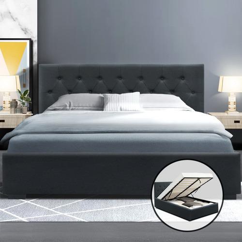 Dwell Home Charcoal Eliana Gas Lift Storage Bed Frame