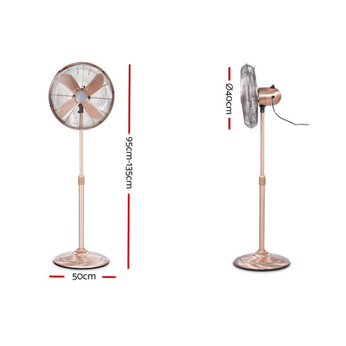 Dwell Home Devanti Vintage Style 3 Speed Pedestal Fan