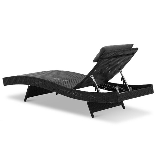 Dwell Outdoor Adjustable Billie Outdoor Wicker Sun Lounge