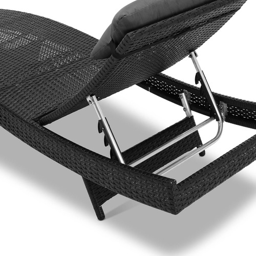 Dwell Outdoor Barcelona PE Wicker Outdoor Sun Lounges