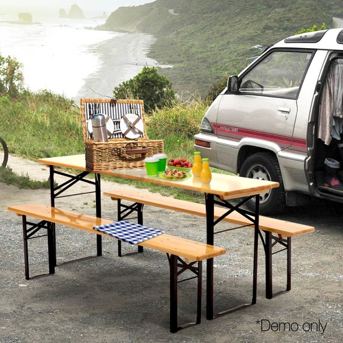Dwell Outdoor 4 Seater Arie Outdoor Foldable Table & Bench Set