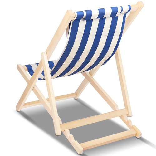 Dwell Outdoor Foldable Stripes Beach Sling Chair