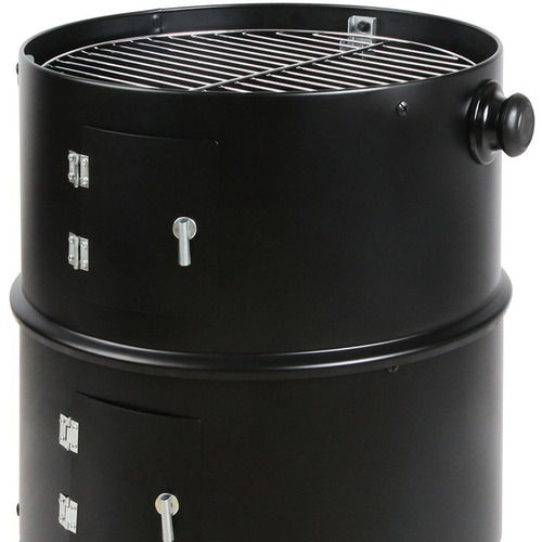 Dwell Outdoor 3 in 1 Black Charcoal BBQ Smoker