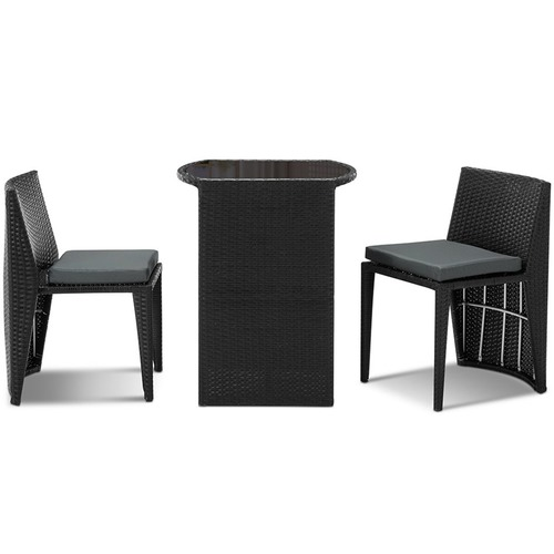 Dwell Outdoor 2 Seater PE Wicker Outdoor Table & Chair Set