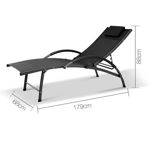 Dwell Outdoor Portable Outdoor Reclining Lounge Chair