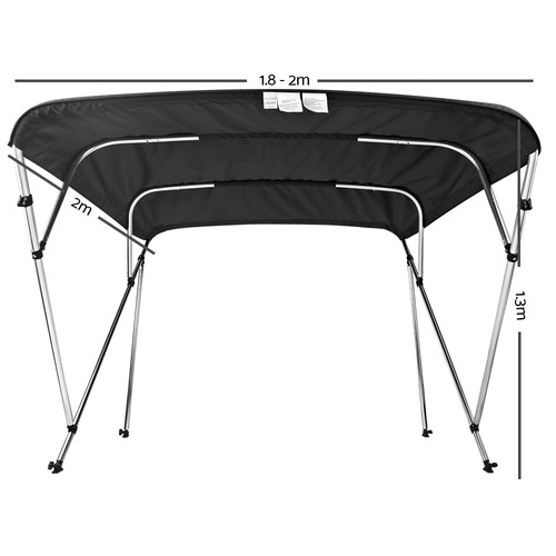 Dwell Outdoor Black Seamanship Bimini Boat Top Canopy