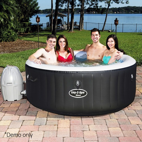 Dwell Outdoor Black Bestway Inflatable Spa