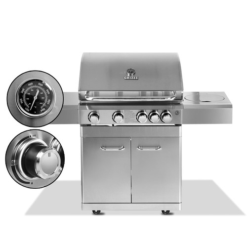 Dwell Outdoor Silver Grizze Stainless Steel BBQ Grill