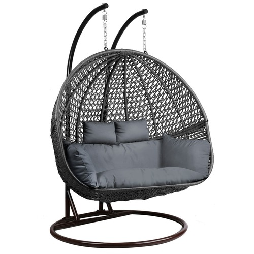 Gardeon Outdoor Double Hanging Swing Chair Temple Webster
