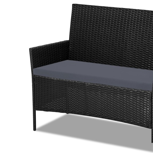 Dwell Outdoor 4 Seater Gardeon Rattan Outdoor Chair & Table Set