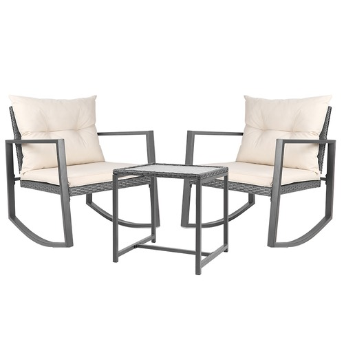Dwell Outdoor 2 Seater Harrien Outdoor Rocking Chair & Table Set