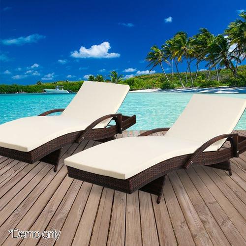Dwell Outdoor Horden Outdoor Sun Loungers