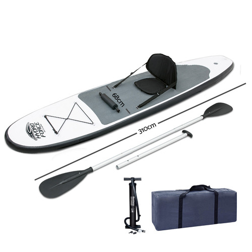 Dwell Outdoor White 2 in 1 Inflatable Stand Up Paddle Board