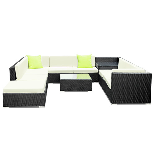 Dwell Outdoor Gideon 11 Piece Outdoor Wicker Sofa Lounge Set