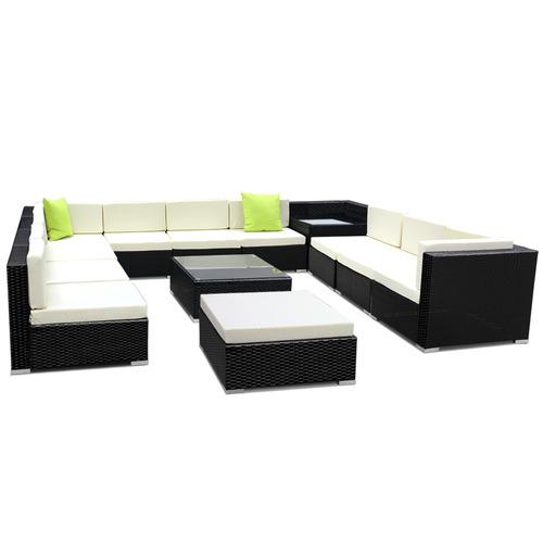Dwell Outdoor 10 Seater Girgio PE Wicker Outdoor Sofa Lounge Set