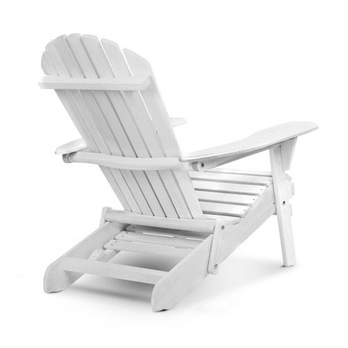Wondrous White Hudson Adirondack Chair With Pull Out Ottoman Cjindustries Chair Design For Home Cjindustriesco