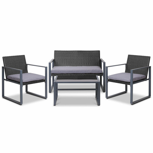 Dwell Outdoor 4 Seater Jario PE Wicker Outdoor Table & Chair Set