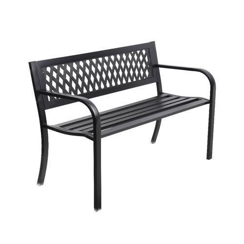 Surprising 2 Seater Oslow Steel Garden Bench Beatyapartments Chair Design Images Beatyapartmentscom