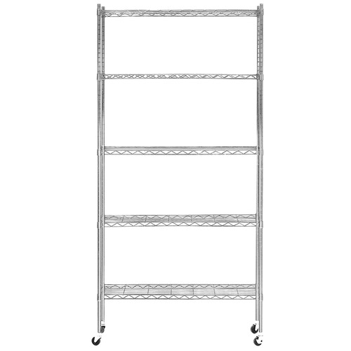 Dwell Outdoor 5 Tier Gendry Steel Outdoor Shelving Unit Trolley