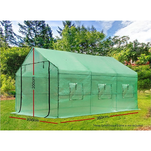 Dwell Outdoor 200 x 350cm Green Gramen PE Greenhouse Cover