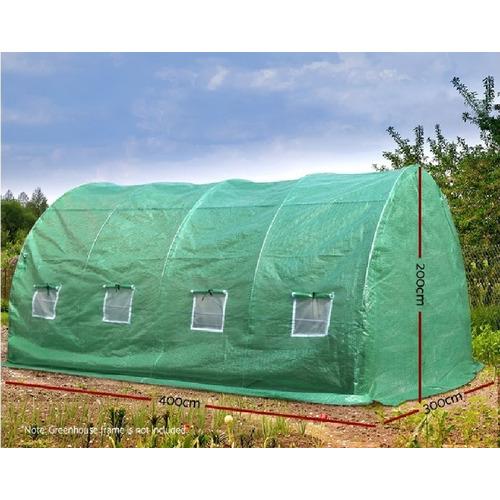 Dwell Outdoor 400 x 300cm Dome Gramen PE Greenhouse Cover