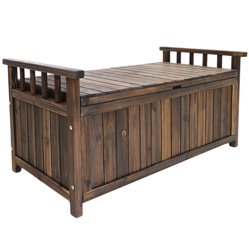 Dwell Outdoor Nyla Wooden Outdoor Storage Bench