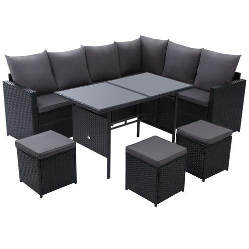 Phenomenal 8 Seater Reva Outdoor Dining Set With Storage Cover Download Free Architecture Designs Rallybritishbridgeorg