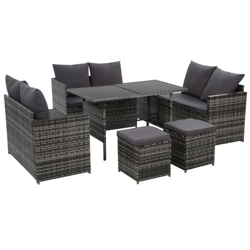 Dwell Outdoor 8 Seater Reva Outdoor Dining Set