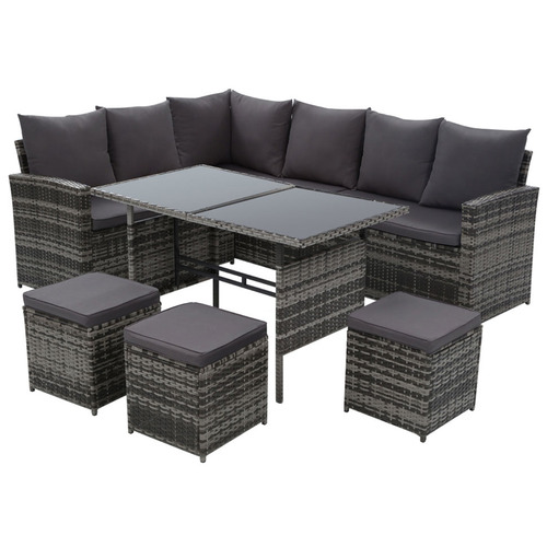 Dwell Outdoor 8 Seater Hansley Outdoor Dining Set