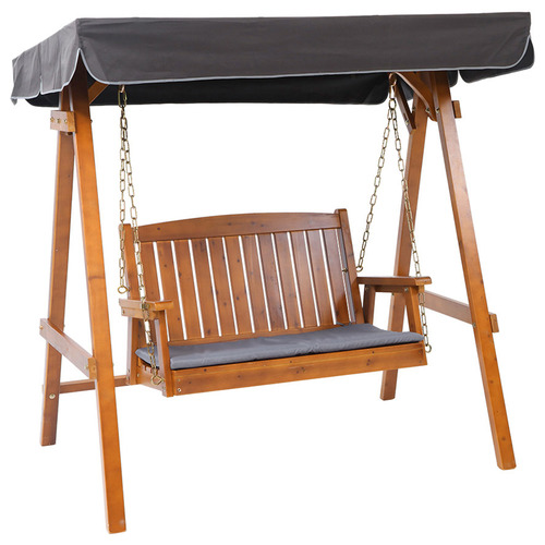 Dwell Outdoor Mohan Wooden 2 Seater Outdoor Swing