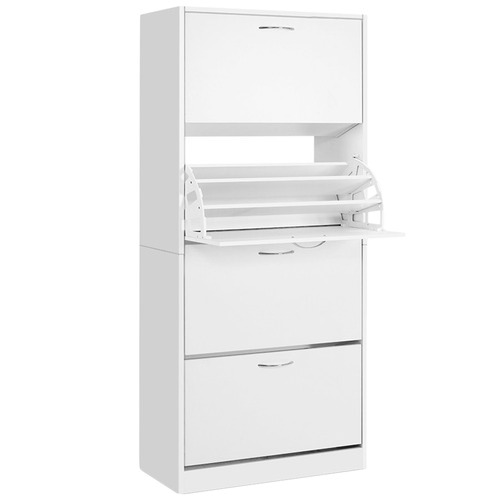 Dwell Outdoor White Meyer Shoe Cabinet