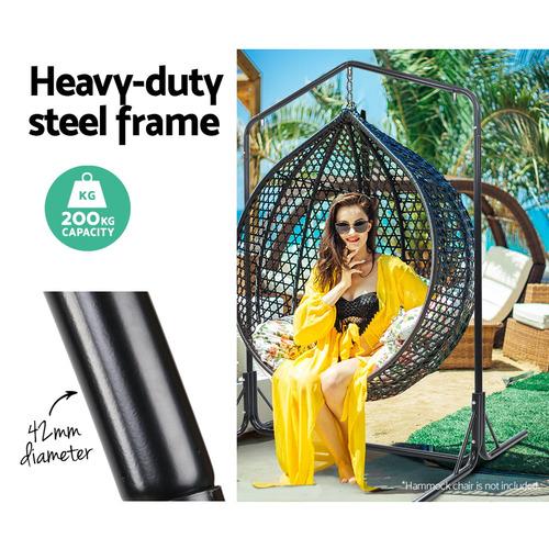 Dwell Outdoor Black Tadlac Double Steel Hammock Frame