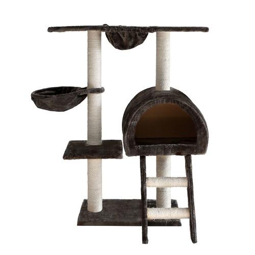 Dwell Pets Cat Scratching Poles Post Furniture Tree 100cm Dark Grey