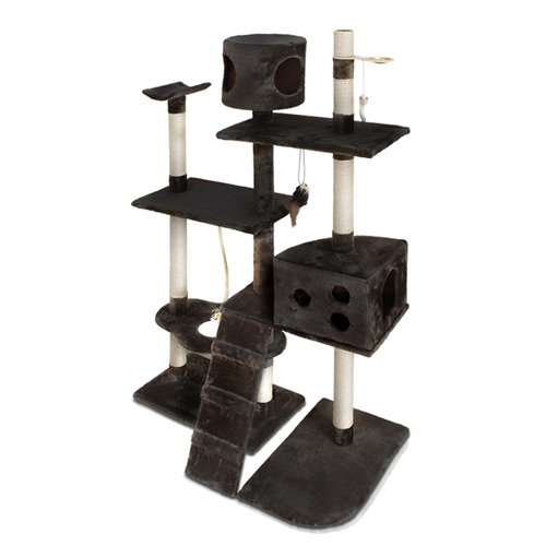Dwell Pets Grey Cat Scratching Climbing Frame