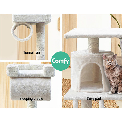Dwell Pets Deluxe Multi-Layer Cat Tree Play Condo