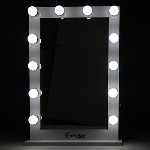 Dwell Lifestyle White Make Up Mirror Frame with LED Lights
