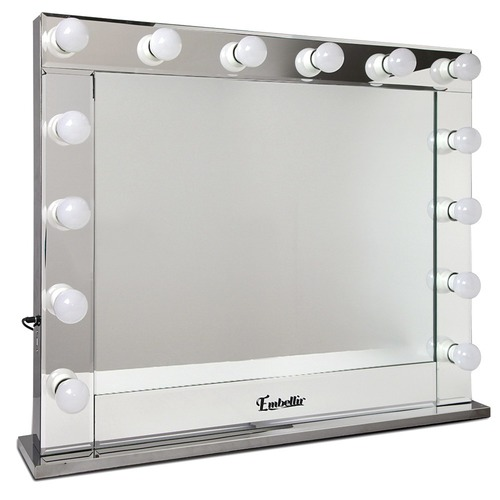 Clear Make Up Mirror Frame with LED Lights | Temple & Webster