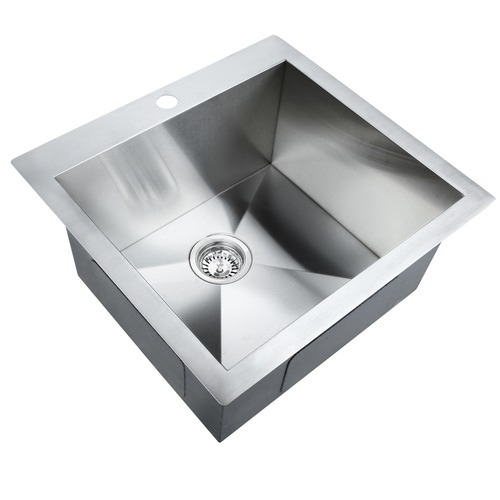 Dwell Lifestyle Stainless Steel Kitchen Laundry Sink w/ Strainer Waste 530 x 500mm