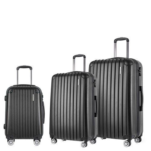 how to orders new high quality excellent quality 3 Piece Black Hard Shell Luggage Set