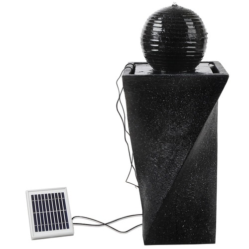 Dwell Lifestyle Solar Fountain Twist Design with LED Lights