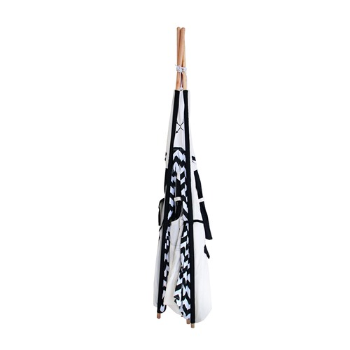 Dwell Lifestyle 4 Poles Teepee Tent w/ Storage Bag Black