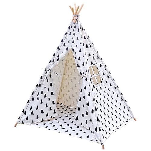 Dwell Lifestyle 5 Poles Teepee Tent w/ Storage Bag Black White  sc 1 st  Temple u0026 Webster & 5 Poles Teepee Tent w/ Storage Bag Black White | Temple u0026 Webster
