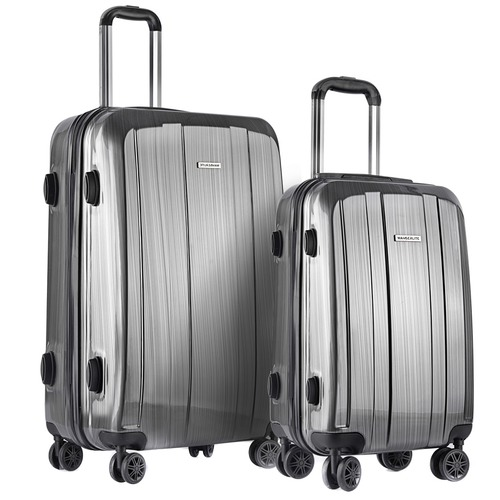 Dwell Lifestyle 2 Piece Grey Premium Hard Shell Luggage Set