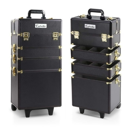 Dwell Lifestyle Black & Gold 7 in 1 Make Up Cosmetic Beauty Case