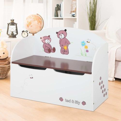 Dwell Lifestyle Bears & Bees Kids' Storage Box Bench