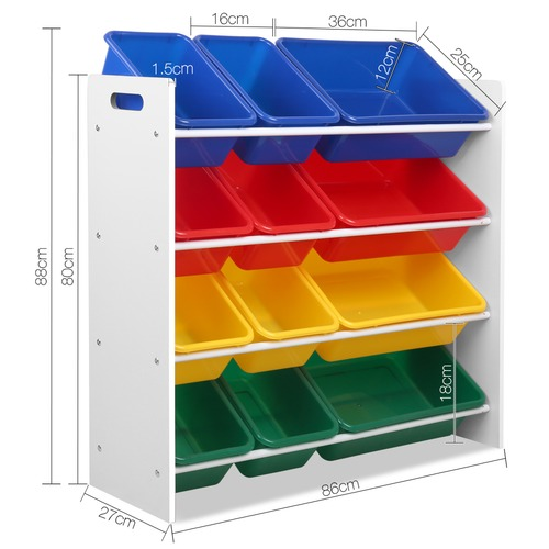 Dwell Lifestyle 12 Bin Toy Organiser Storage Rack