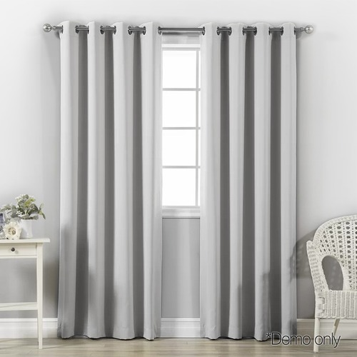Dwell Lifestyle Light Grey Blockout Curtains