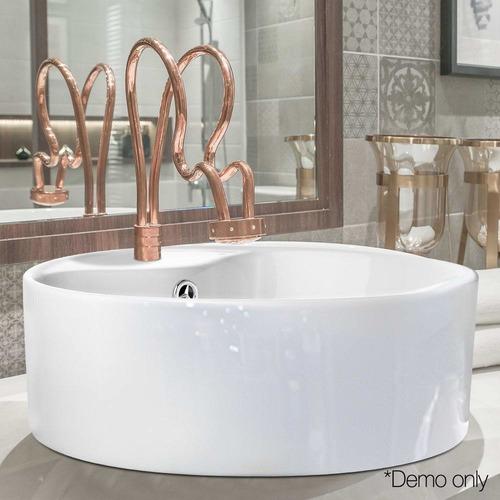 Dwell Lifestyle White Round Orb Ceramic Bathroom Sink