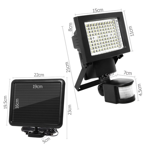 Dwell Lifestyle LED Motion Detection Solar Sensor Security Garden Flood Light